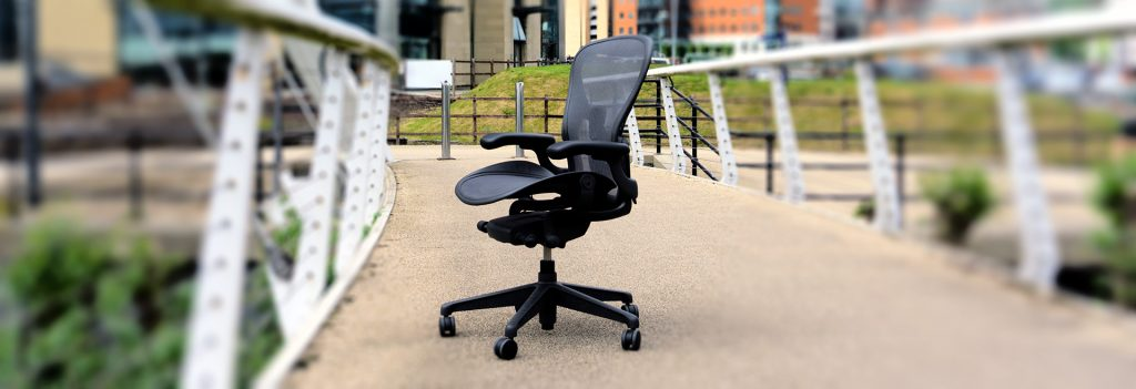 Herman Miller Aeron Remastered on bridge