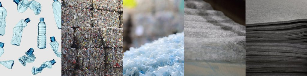 PET manufacturing process - from discarded bottle to thermoplastic felt