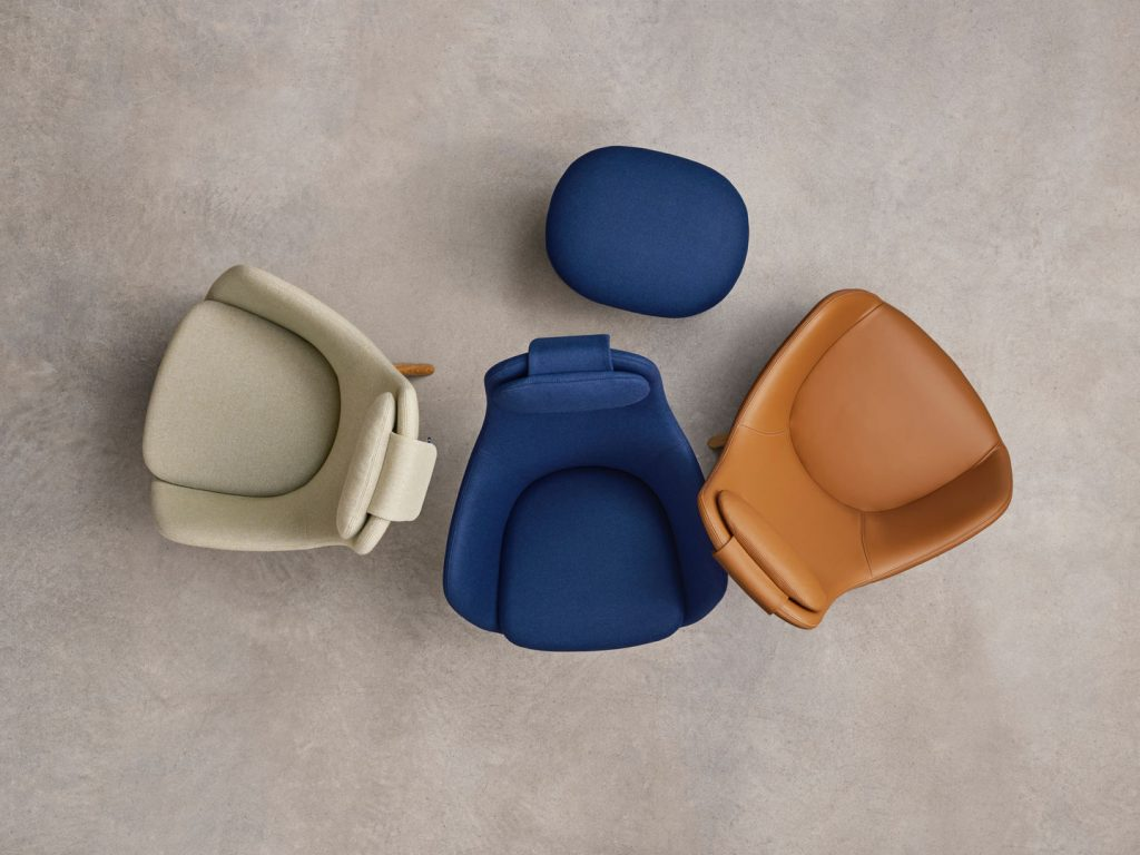 Vitra HAL Lounge Chair range from above